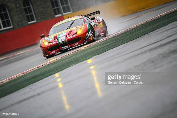 Pro Class AF Corse Ferrari F458 Italia of Gianmaria Bruni and Toni Vilander in action during free practice 1 of Round 2 of the 2014 FIA World...
