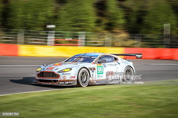 Pro class Aston Martin Racing Aston Martin Vantage V8 of Alex MacDowall / Darrul O'Young / Fernando Rees in action during the race of Round 2 of the...