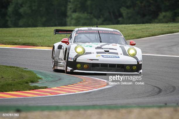 Pro class Porsche Team Manthay Porsche 911 RSR of Patrick Pilet and Jorg Bergmeister in action during Free Practice 2 of Round 2 of the 2014 FIA...