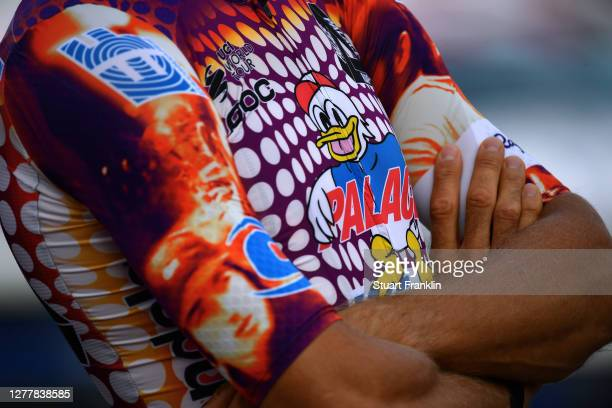 Pro Cycling special Rapha x Palace Skateboards / Detail view / during the 103rd Giro d'Italia 2020, Team Presentation in Archaeological Park of...