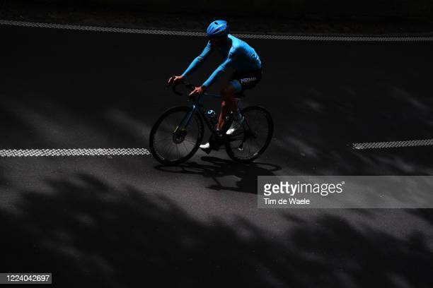 Pro cyclist Jacob Fuglsang of Denmark and Team Astana trains in isolation during Covid-19 lockdown on May 09, 2020 in Luxembourg, Luxembourg.