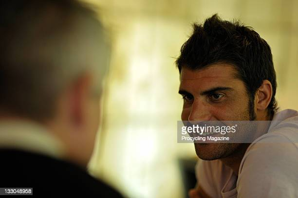 Pro cyclist Oscar Pereiro during an interview and photoshoot at the Palace Hotel in Valencia, October 2, 2010.
