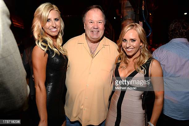 Pro Drag racer Courtney Force actor Dennis Haskins and Brittany Force attend ESPN the Magazine 5th annual Body Issue party at Lure on July 16 2013 in...