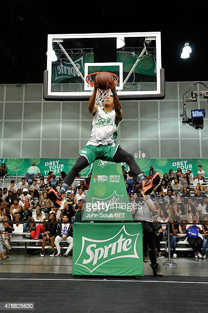 Pro dunker Jonathan Clark attends the Slam Dunk presented by Sprite during the 2015 BET Experience at the Los Angeles Convention Center on June 27...