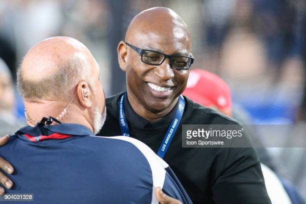Pro Football Hall of Fame Eric Dickerson before the NFC Wild Card football game between the Atlanta Falcons and the Los Angeles Rams on January 06...