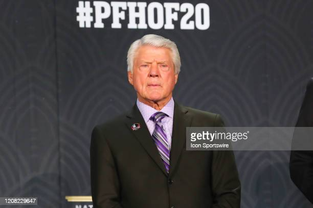 Pro Football Hall of Fame member Jimmie Johnson during the Hall of Fame Press conference during the NFL Honors on February 1 2020 at the Adrienne...