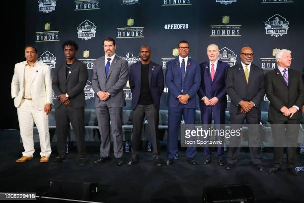 Pro Football Hall of Fame members Troy PolamaluEdgerrin James Steve Hutchinson Isaac Bruce Steve Atwater Paul Tagliabue Donnie Shell and Jimmie...