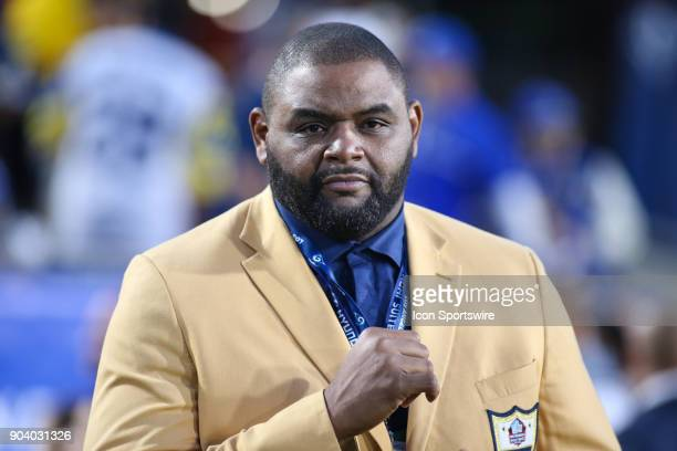 Pro Football Hall of Fame Orlando Pace before the NFC Wild Card football game between the Atlanta Falcons and the Los Angeles Rams on January 06 2018...
