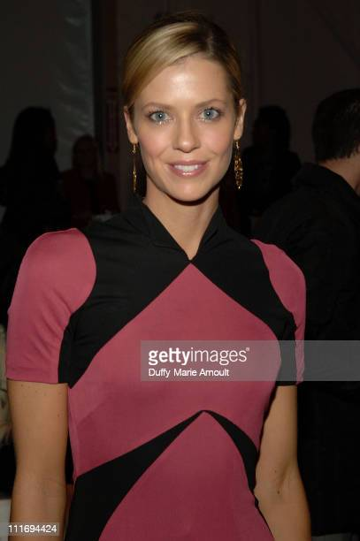Pro Golfer Anna Rawson attends Jayson Brunsdon Fall 2008 during MercedesBenz Fashion Week at The Salon Bryant Park on February 7 2008 in New York City