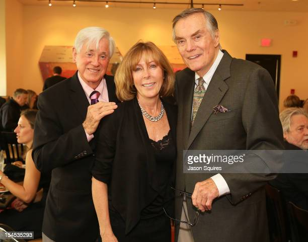 Pro golfer Doug Sanders Debbie Williams and entertainer Peter Marshall attends a memorial service for entertainer Andy Williams on October 21 2012 in...