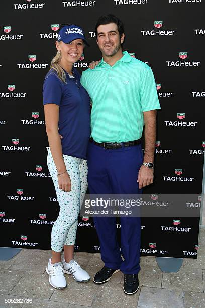 Pro golfer Jessica Korda and Johnny DelPrete attend Tag Heuer And Golf Digest Host The Jessica Korda Mall Challenge at Miami Design District Palm...