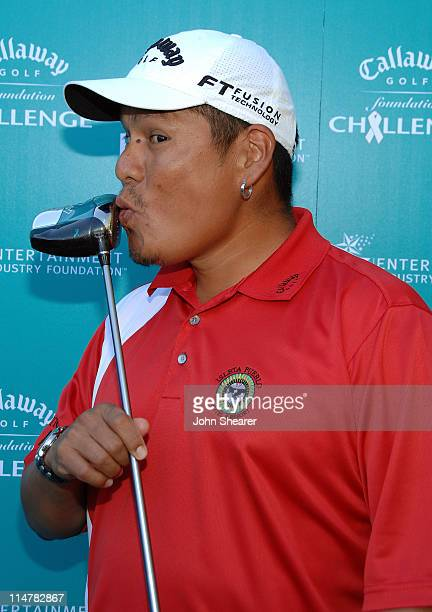 Pro golfer Notah Begay attends the Callaway Golf Foundation Challenge benefiting the Entertainment Industry Foundation cancer research programs held...