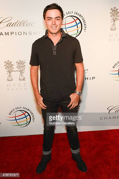 Pro golfer Rickie Fowler attends The Opening Drive Party at Hyde Beach on March 4 2014 in Miami Florida