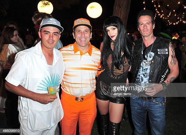 Pro golfer Rickie Fowler Discovery Land Company CEO Mike Meldman model Cindy Crawford and Casamigos cofounder Rande Gerber attend the Casamigos...