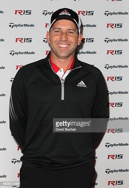 Pro golfer Sergio Garcia attends the Northern Trust Open TaylorMade golf first ever drivein movie on the driving range of a PGA Tour event at Riviera...