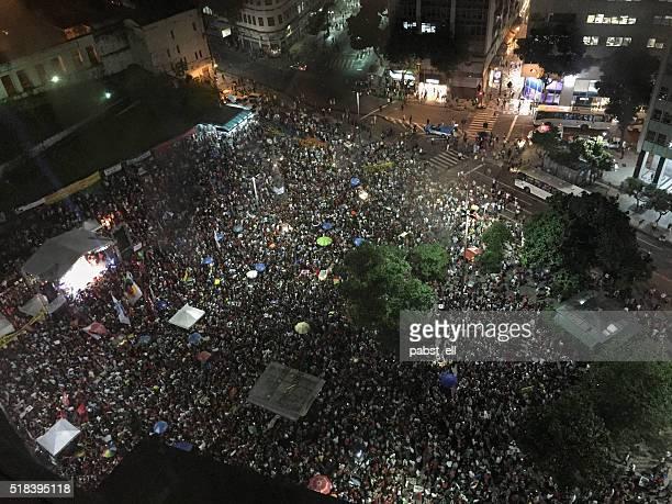 pro governo demonstrações no rio de janeiro - comício político - fotografias e filmes do acervo