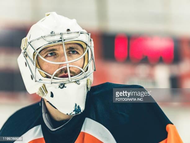 pro hockey goalie - hockey stock pictures, royalty-free photos & images