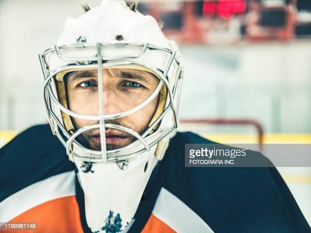 pro hockey goalie - ice hockey uniform stock pictures, royalty-free photos & images