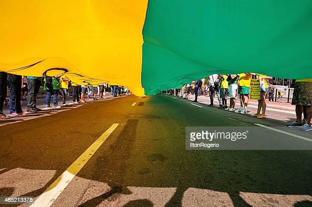 Pro impeachment manifestation Dilma Rousseff