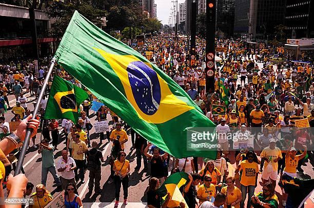 Pro impeachment manifestazione Dilma Rousseff