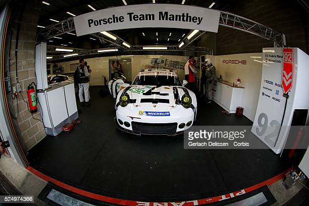 Pro Porsche Team Manthey Porsche 911 RSR of Frederic Makowiecki and Richard Lietz in action during Round 2 of the 2015 FIA World Endurance...