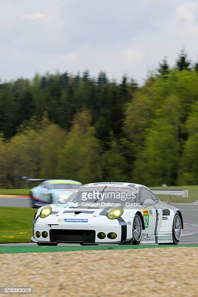 Pro Porsche Team Manthey Porsche 911 RSR of Frederic Makowiecki and Richard Lietz in action during Round 2 of the 2015 FIA World Endurance...