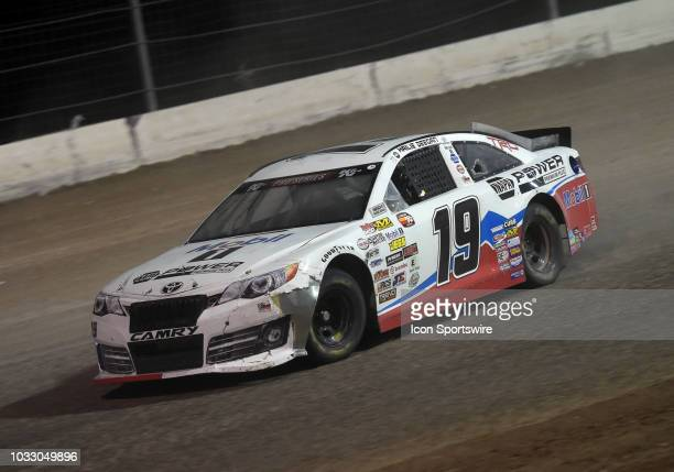 Pro Series West driver Hailie Deegan Toyota Camry drives through turn 2 during the NASCAR KN West Series Star Nursery 100 on September 13 at The Dirt...