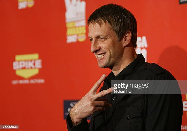 Pro Skateboarder Tony Hawk arrives at Spike TV's 5th Annual Video Game Awards held at Mandalay Bay Events Center on December 7 2007 in Las Vegas...