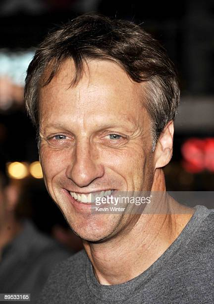 Pro skateboarder Tony Hawk arrives at the premiere of ESPN Films and Walt Disney Pictures' X Games 3D The Movie at the Nokia Theater on July 30 2009...