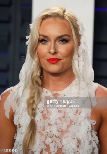 Pro ski racer Lindsey Vonn attends the 2019 Vanity Fair Oscar Party following the 91st Academy Awards at The Wallis Annenberg Center for the...