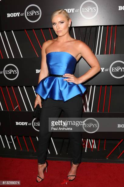 Pro Skier Lindsey Vonn attends the ESPN Magazin Body Issue preESPYS party at Avalon Hollywood on July 11 2017 in Los Angeles California