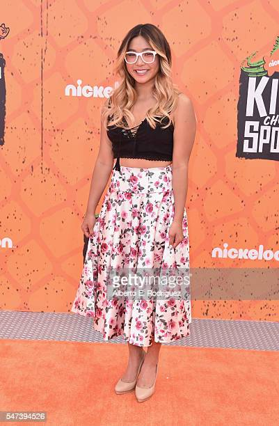 Pro snowboarder Chloe Kim attends the Nickelodeon Kids' Choice Sports Awards 2016 at UCLA's Pauley Pavilion on July 14 2016 in Westwood California
