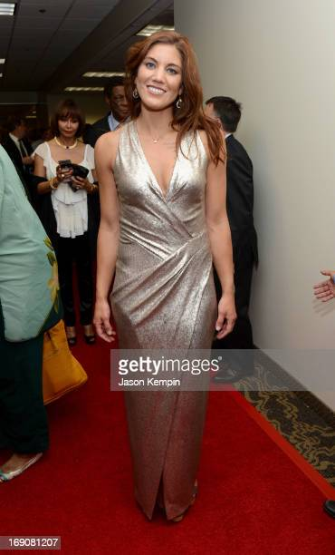 Pro soccer player and honoree Hope Solo attends the 28th Anniversary Sports Spectacular Gala at the Hyatt Regency Century Plaza on May 19 2013 in...