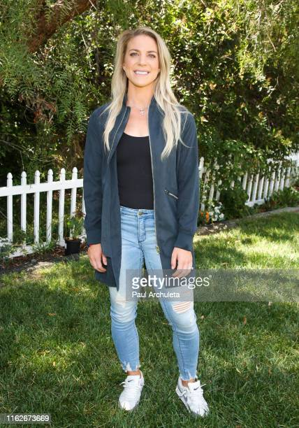 Pro Soccer Player Julie Ertz visits Hallmark's Home Family at Universal Studios Hollywood on July 17 2019 in Universal City California