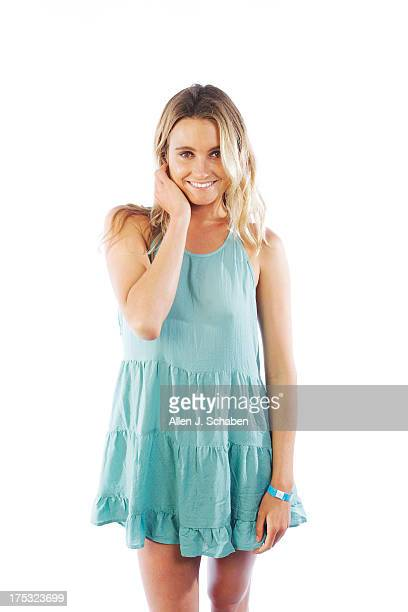 Pro surfer and model Alana Blanchard of Kauai Hawaii is photographed for Los Angeles Times on July 26 2013 in Huntington Beach California PUBLISHED...