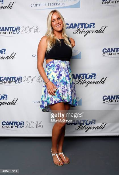 Pro surfer Bethany Hamilton attends Annual Charity Day Hosted By Cantor Fitzgerald And BGC at Cantor Fitzgerald on September 11 2014 in New York City