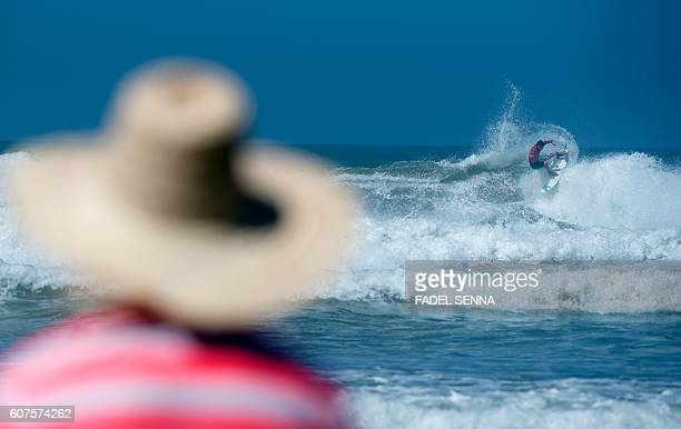TOPSHOT Pro surfer Deivid Silva of Brazil competes in the men final at the Quicksilver Pro Casablanca surf competition on September 18 2016 in...