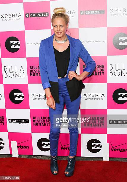 Pro Surfer Laura Enever attends Billabong's 6th annual Design For Humanity fashion art and music celebration benefiting the Chipotle Cultivate...