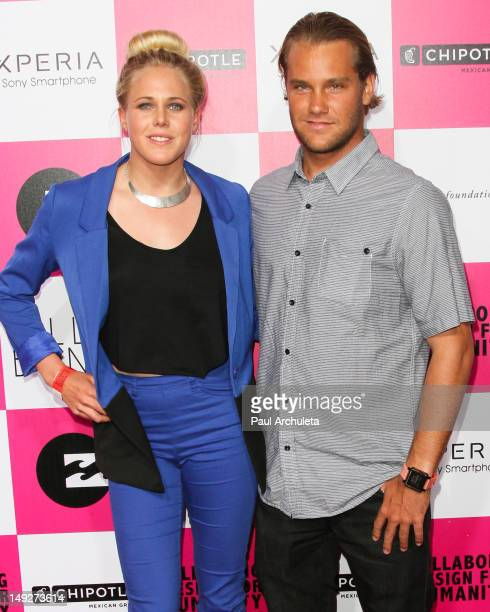 Pro Surfers Laura Enever and Granger Larsen attend Billabong's 6th annual Design For Humanity fashion art and music celebration benefiting the...
