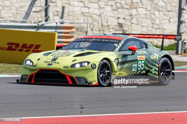 Pro Team Aston Martin Racing's Aston Martin Vantage AMR during Free Practice 2 at the WEC Lone Star Le Mans held February 22 at the Circuit of the...