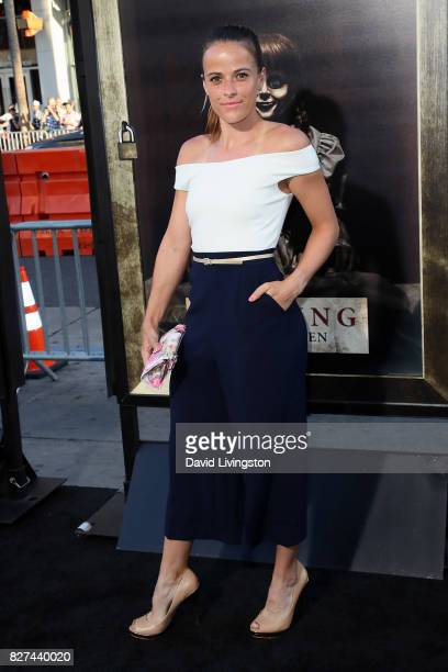 Pro tennis player Nicole Gibbs attends the premiere of New Line Cinema's Annabelle Creation at TCL Chinese Theatre on August 7 2017 in Hollywood...