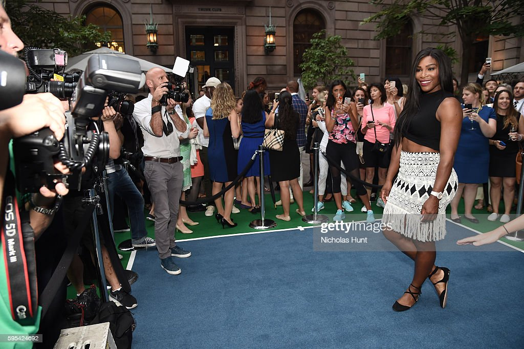 Pro Tennis player Serena Williams attends the Wii Tennis Tournament at Lotte New York Palace on August 25, 2016 in New York City.