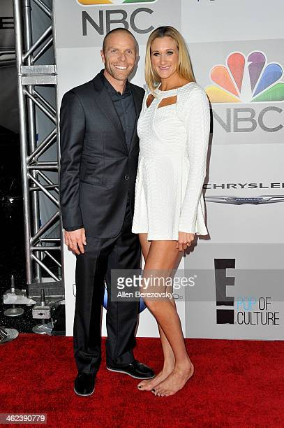 Pro volleyball player Kerri Walsh Jennings and husband Casey Jennings attend the NBC/Universal's 71st Annual Golden Globes After Party at The Beverly...