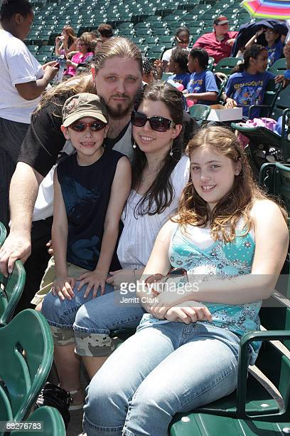 Pro Wrestler/ actor/ author Brimstone and family attend the 3rd annual Celebrity Charity Softball game at KeySpan Park on June 6 2009 in New York City
