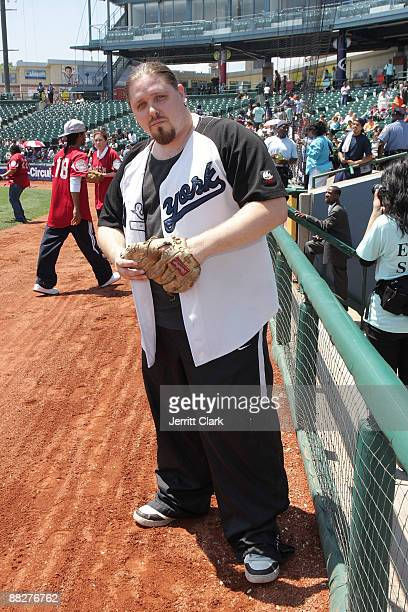 Pro Wrestler/ actor/ author Brimstone attends the 3rd annual Celebrity Charity Softball game at KeySpan Park on June 6 2009 in New York City
