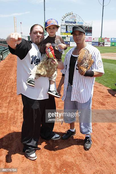 Pro Wrestler/ actor/ author Brimstone Noah Christian Simmers and 20 pack attend the 3rd annual Celebrity Charity Softball game at KeySpan Park on...