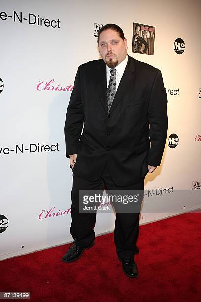 Pro wrestler author actor Brimstone attends Chrisette Michele's 'Epiphany' album release party at M2 Ultra Lounge on May 12 2009 in New York City