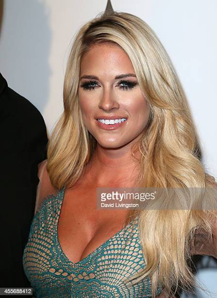 Pro wrestler Barbie Blank aka Kelly Kelly attends the Stars Get Lucky For Lupus 6th Annual Poker Tournament at Avalon on September 18 2014 in...