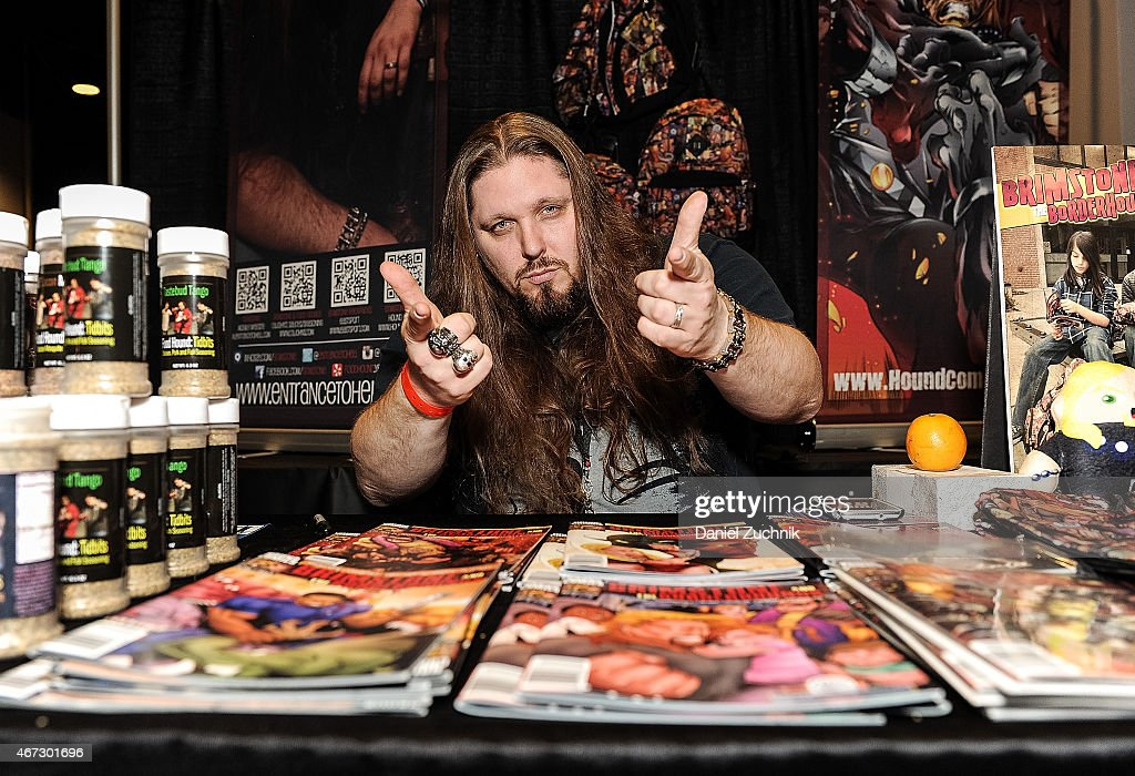 Pro Wrestler Brimstone attends the United Ink 'No Limits' Tattoo Festival at Resorts World Casino New York City on March 22, 2015 in New York City.