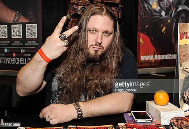 Pro Wrestler Brimstone attends the United Ink 'No Limits' Tattoo Festival at Resorts World Casino New York City on March 22 2015 in New York City